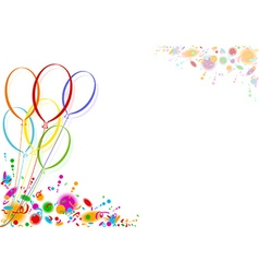 Colored party balloons vector
