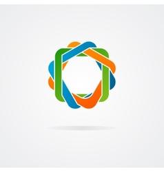 Abstract conundrum logo vector