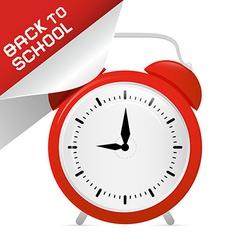 Back to school retro with alarm clock vector