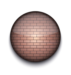 Brick Pattern App Icon vector image