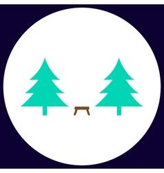 Camping computer symbol vector