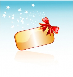 Christmas plate and ribbon vector image