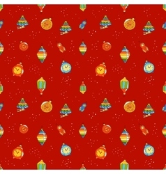 Christmas toys seamless pattern vector image vector image