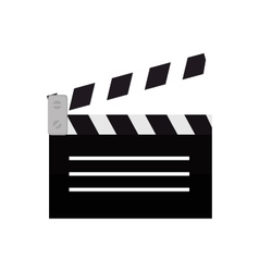 clapper film movie icon design vector image