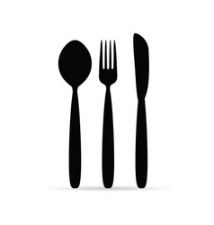 Cutlery in black color design art vector