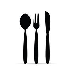 cutlery in black color design art vector image vector image