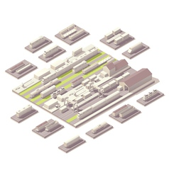 Isometric railroad yard vector