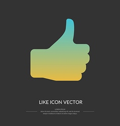 Like icon vector image