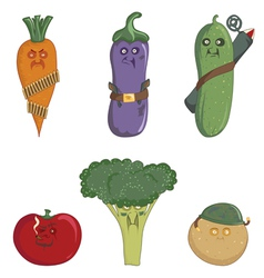 Nasty vegetables vector