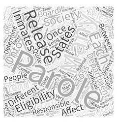 Parole word cloud concept vector