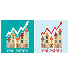 Prices for real estate vector