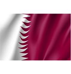 qatar national flag vector image vector image