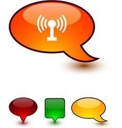 Radio speech comic icons vector