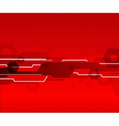 red background vector image