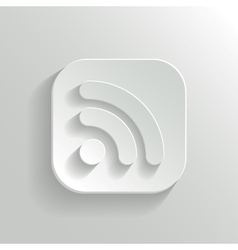 Rss icon - white app button vector