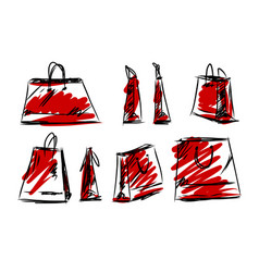 shopping bag fashion style vector image vector image