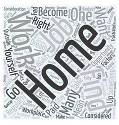 Should You Work from Home Word Cloud Concept vector image vector image