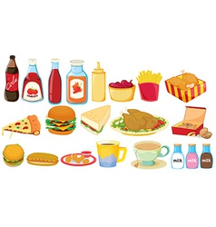 Snack foods vector