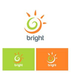 sun shine abstract logo vector image