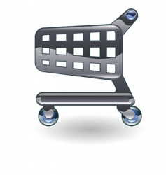 trolley cart illustration vector image vector image