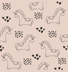Unicorn seamless pattern with unicorns cute vector