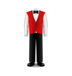 waiter uniform isolated on white vector image