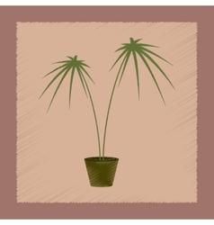 flat shading style plant Cyperus vector image