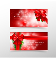 008 Christmas card template for invitation and vector image