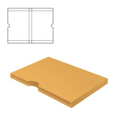 mock up clear box vector image