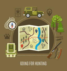 Going for hunting concept vector