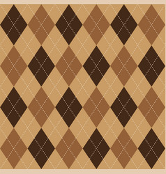 argyle pattern brown rhombus seamless texture vector image