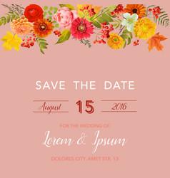 Floral wedding invitation card template vector
