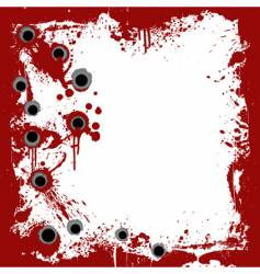 Bloody frame with gunshots background vector