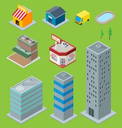 3d buildings vector