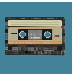 Retro audio cassete vintage color vector