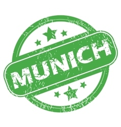 Munich green stamp vector