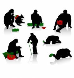 beggars vector image