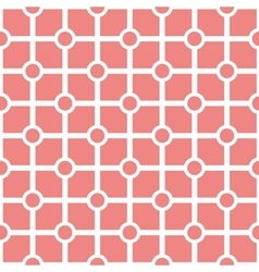 Tile pastel pink and white pattern vector