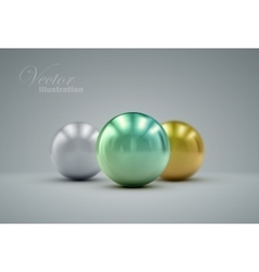 3d metallic spheres vector