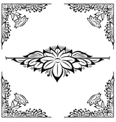 Decor floral frame vector
