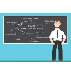 Online marketing strategy concepts vector