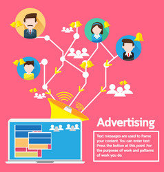 Business concept design advertising social network vector