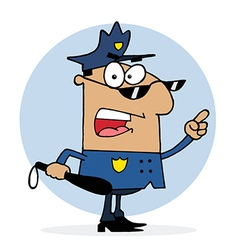 Cartoon police officer vector image vector image