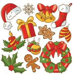 Christmas Doodle Icons Set vector image vector image
