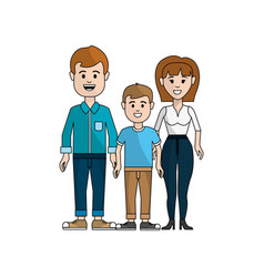 couple with their son icon vector image vector image