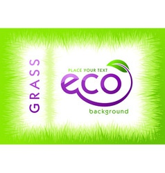 eco green grass background vector image vector image