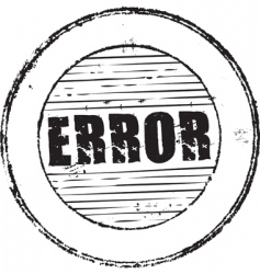 error stamp vector image