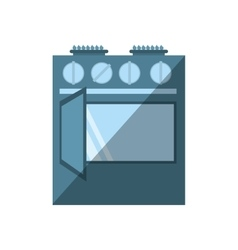Gas stove appliance kitchen home shadow vector