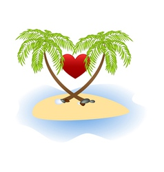 island love vector image