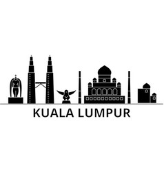 kuala lumpur malaysia architecture ci vector image